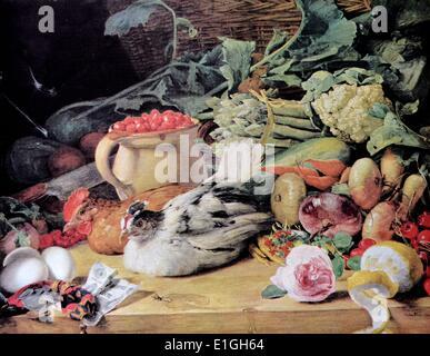 Kochen immer noch das Leben von Ferdinand Georg Waldmüller (Hilfe Info) (15. Januar 1793 in Wien - 23. August 1865 - Stockfoto