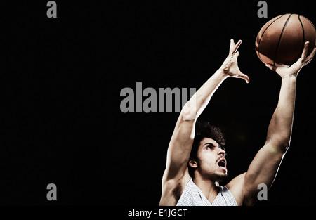 Fang von Basketball Basketball-Spieler - Stockfoto