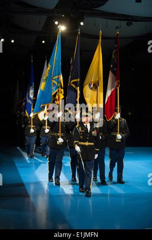 US-Soldaten mit der 3. US-Infanterie-Regiment (der alte Garde) Teilnahme eine Abschiedsfeier für Generalleutnant - Stockfoto