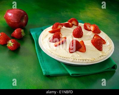 Erdbeere Apfel Cashew Kuchen Vegan Dessert Stockfoto Bild 69926186