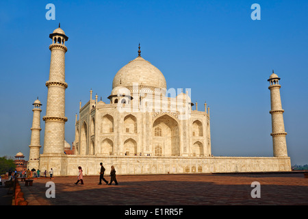 Indien, Bundesstaat Uttar Pradesh, Agra, Taj Mahal, UNESCO-Welterbe - Stockfoto