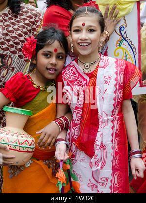 Kulturfestival, Boishakhi Mela, Südasiatische Gemeinschaft, East London, England - Stockfoto