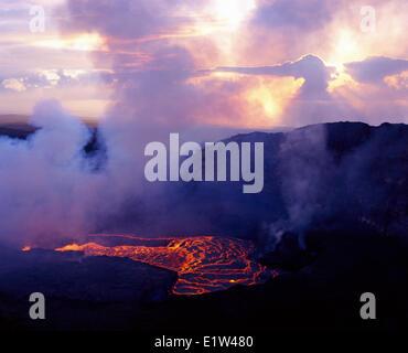 Hawaii Volcanoes National Park. Kilauea vulkanische - Stockfoto
