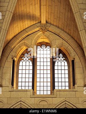 ALKOVEN, Ehrenhalle, Zentrum FENSTERBLOCK, Parlament von Kanada, OTTAWA, Ontario, Kanada - Stockfoto