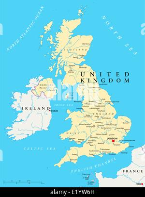 irland landkarte mit hauptstadt dublin landesgrenzen wichtige st dte fl sse und seen. Black Bedroom Furniture Sets. Home Design Ideas