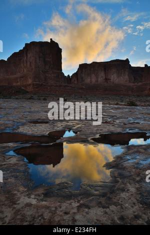 Morgen im Arches National Park in der Nähe von Moab, Utah - Stockfoto