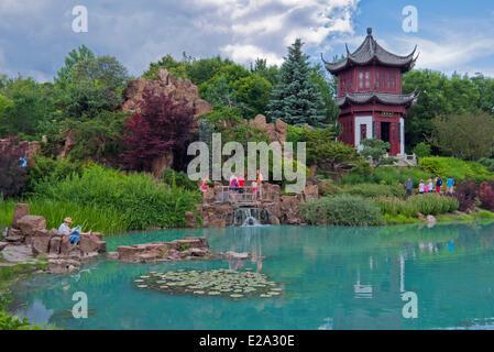 provinz kanada quebec montreal botanischer garten der mosaicultures mutter erde stockfoto bild. Black Bedroom Furniture Sets. Home Design Ideas