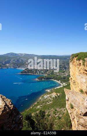 Frankreich, Bouches-du-Rhône, Cassis von Cap Canaille, die Ridge Road - Stockfoto