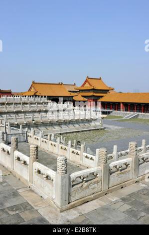 China, Peking, Verbotene Stadt, Weltkulturerbe von der UNESCO - Stockfoto