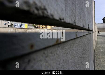Deutschland, Berlin, Mitte, Prenzlauer Berg Bereich, Gedenkstätte Berliner Mauer, Bernauer Straße, die Mauer Gedenkstatte - Stockfoto