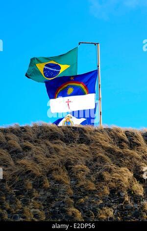 Brasilien Pernambuco Insel Fernando De Noronha Pernambuco und Brasilien Zustandsflags - Stockfoto