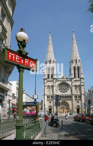 Frankreich Paris Metro Station Jourdain Rue Lassus Stockfoto Bild