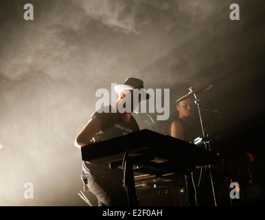 Qualitätsbäumen Trentemoller die live beim Sonar Music Festival in Barcelona, Spanien - Stockfoto