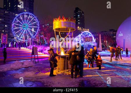 Kanada, Quebec Provinz, Montreal, Montreal En Lumiere Festival, Sehenswürdigkeiten - Stockfoto