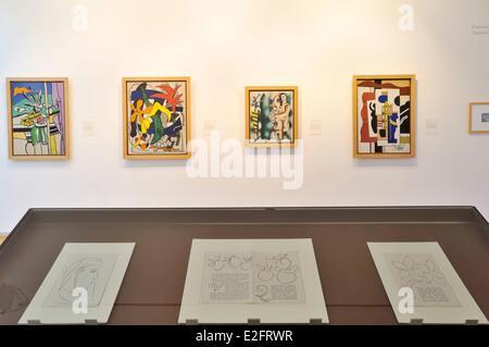 Frankreich Nord Le Cateau Cambrésis Palais Fenelon Musee Matisse Teriade Sammlung Fernand Léger Gemälde - Stockfoto
