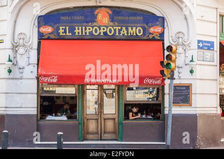 Argentinien Buenos Aires San Telmo Bezirk El Hipopotamo Café im Jahr 1904 eröffnet - Stockfoto