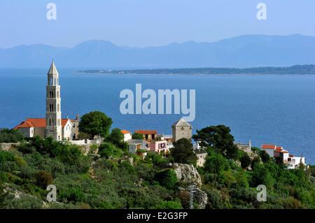 Kroatien Dalmatien dalmatinische Küste Igrane - Stockfoto