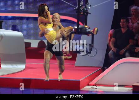 Konny Reimann und Verona Pooth im deutschen RTL Fernsehen
