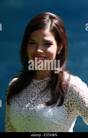 "London, UK. 22. Juni 2014. America Ferrera besucht das UK-Gala-Screening ""Wie zu Train Your Dragon 2"" in 3D im Vue - Stockfoto"