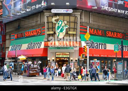 Sbarro, Mama Sbarro, Times Square, New York - Stockfoto