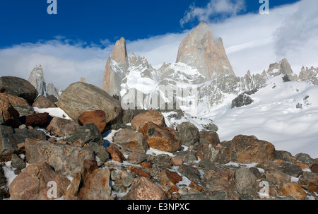 Mount Fitz-Roy-massiv. Nationalpark Los Glaciares. Patagonien. Argentinien - Stockfoto