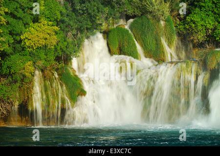 Skradinski Buk Wasserfall, Nationalpark Krka, Dalmatien, Kroatien - Stockfoto