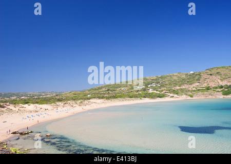 Cala Tirant Strand, Fornells, Menorca - Stockfoto