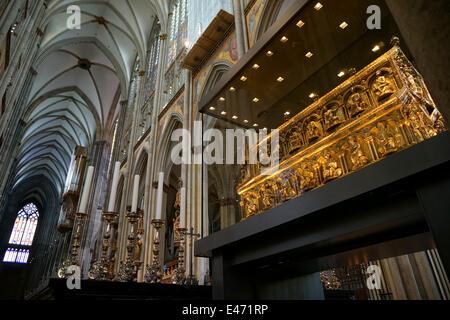 Deutschland: Schrein der Heiligen drei Könige im Kölner Dom (Kölner Dom). Foto vom 23. September 2013. - Stockfoto
