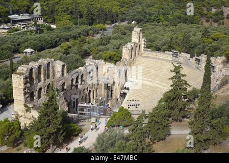Odeon des Herodes Atticus in Akropolis von Athen, Griechenland - Stockfoto