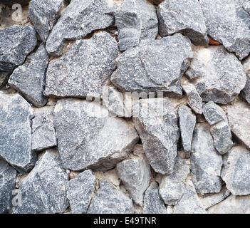 großer Granit Stein grau - Stockfoto