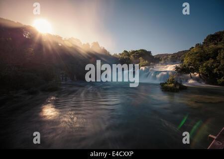 Skradinski Buk Wasserfall, Nationalpark, Kroatien - Stockfoto
