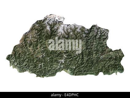 Bhutan, Satellitenbild - Stockfoto