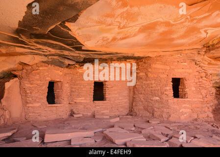 Alten indischen Getreidespeicher, Canyon Road, Cedar Mesa, Utah, USA - Stockfoto