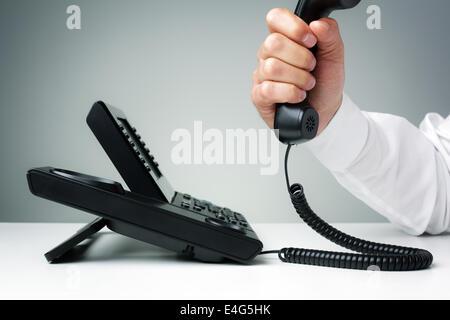 Unternehmen Land Telefon - Stockfoto