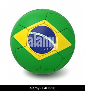 Fußball mit Ländern der Welt kennzeichnet isolierten auf weißen Hintergrund - Stockfoto