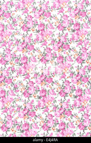 Rose floral tapete muster romantische textur hintergrund for Ornament tapete rosa
