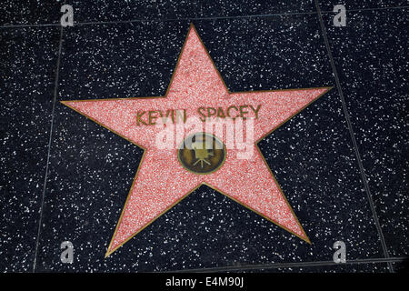 Kevin Spacey Stern am Hollywood Walk of Fame, Hollywood Boulevard, Hollywood, Los Angeles, Kalifornien, USA - Stockfoto