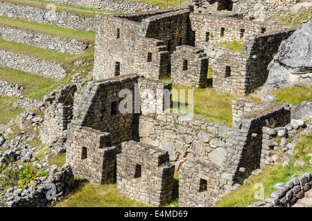 Machu Picchu, Inka-Ruinen in den peruanischen Anden in Cuzco Peru - Stockfoto