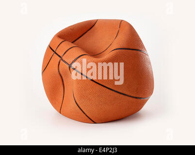 Deflationierten Basketball - Stockfoto