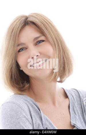 Glückliche Frau mittleren Alters - Stockfoto