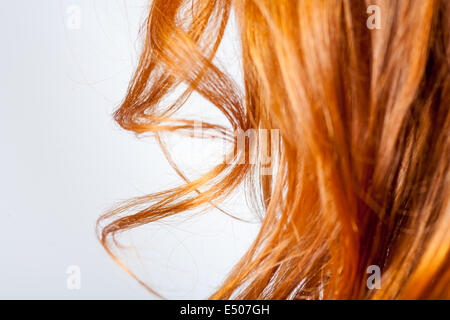 lockiges Haar closeup - Stockfoto