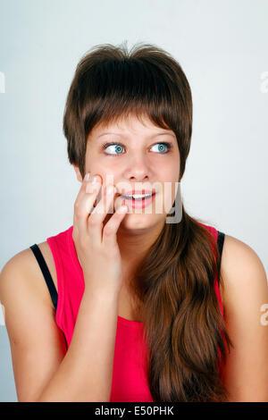 Angst vor jungen Mädchen - Stockfoto