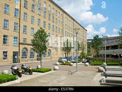 Dean Clough Mill Komplex, Halifax, West Yorkshire, England UK - Stockfoto