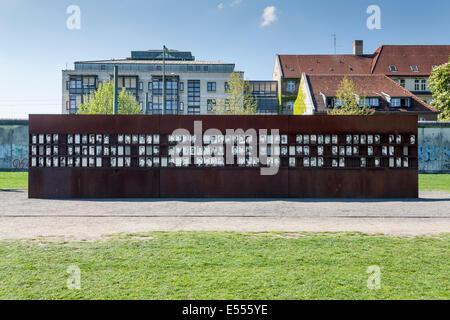 Gedenkstätte Berliner Mauer, Berlin Mitte, Deutschland - Stockfoto