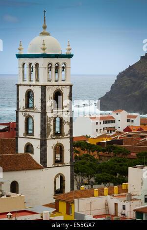 Die Kirche Santa Ana in Garachico Dorf.  Teneriffa, Kanarische Inseln, Spanien, Europa. - Stockfoto