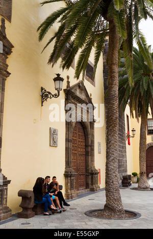 Kirche von Nuestra Señora de Los Angeles. Garachico.  Teneriffa, Kanarische Inseln, Spanien, Europa. - Stockfoto