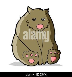 Cartoon-traurig-Bär - Stockfoto