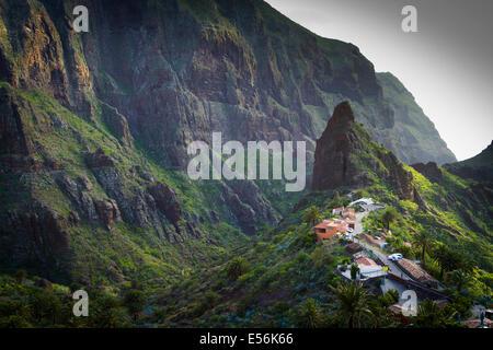 Masca, Teno Naturpark. Buenavista del Norte. Teneriffa, Kanarische Inseln, Atlantik, Spanien, Europa. - Stockfoto