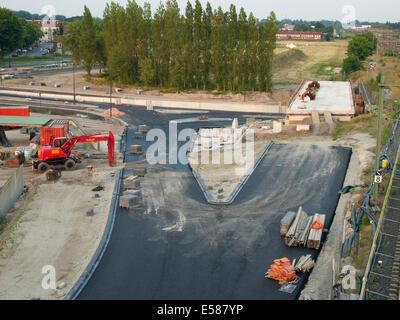 Straßenbau in Breda, Niederlande - Stockfoto