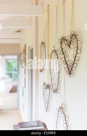 Wandbehänge in rustikalen Flur - Stockfoto